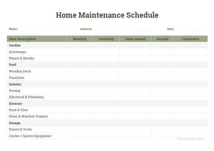 Equipment Maintenance Schedule Template Download 128+ Schedules in - equipment schedule template