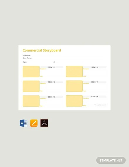 FREE Commercial Storyboard Template Download 25+ Outlines in Word