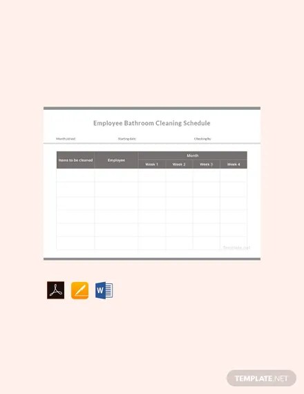 FREE Employee Bathroom Cleaning Schedule Template Download 264+