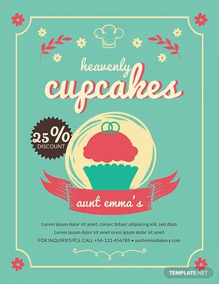 cupcake business flyers