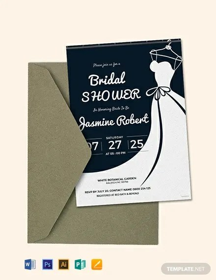 FREE Printable Bridal Shower Invitation Template Download 637+