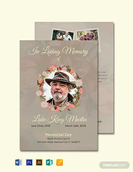 FREE Catholic Funeral Program Invitation Template Download 636+