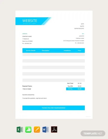 17+ FREE Quotation Templates Download Ready-Made Templatenet