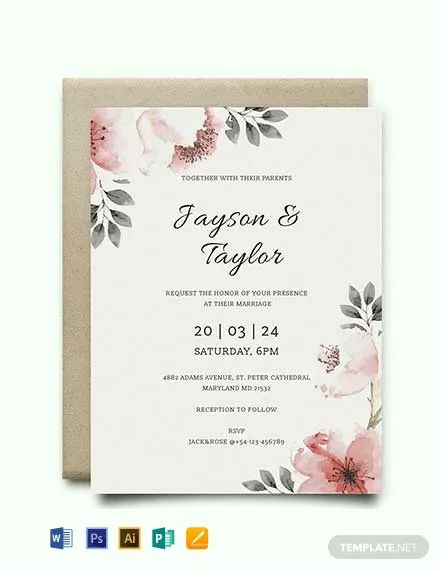 wedding invite email template
