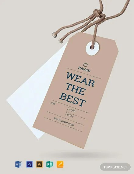 FREE Clothing Tag Template Download 49+ Tags in PSD, Word