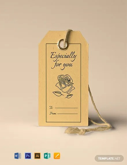 FREE Gift Tag Template Download 49+ Tags in PSD, Word, Publisher