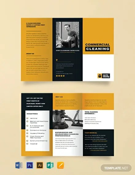 FREE Commercial Cleaning Brochure Template Download 457+ Brochures