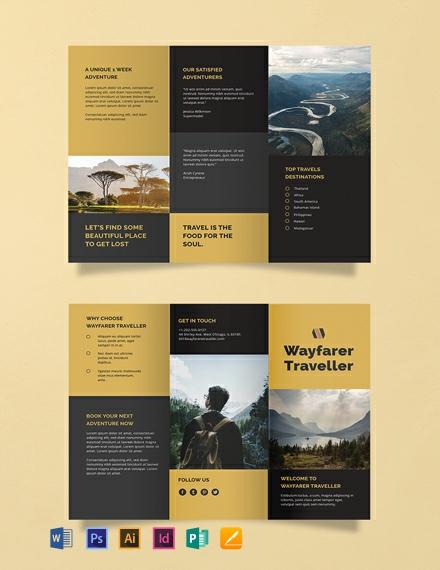 three fold brochure template free download
