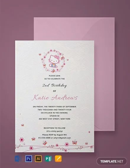 hello kitty free invitation template