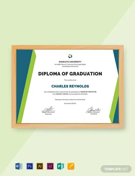FREE Sample Diploma Certificate Template Download 435+ Certificates