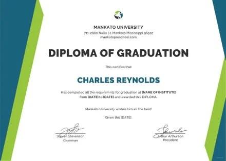 Free Sample Diploma Certificate Template Free Templates - sample graduation certificate