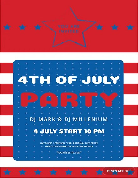 Free 4th of July Flyer Template Download 416+ Flyers in Abobe - 4th of july template