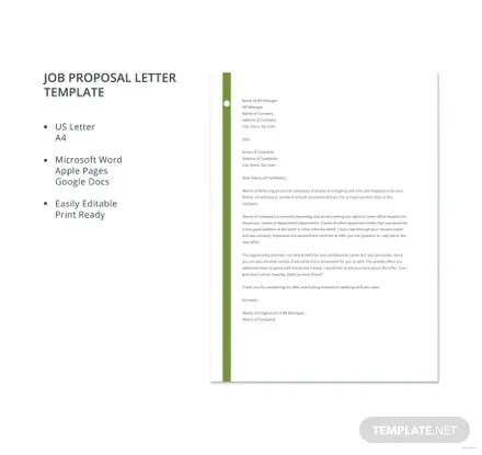 Job Proposal Letter Template Download 700+ Letters in Word, Pages