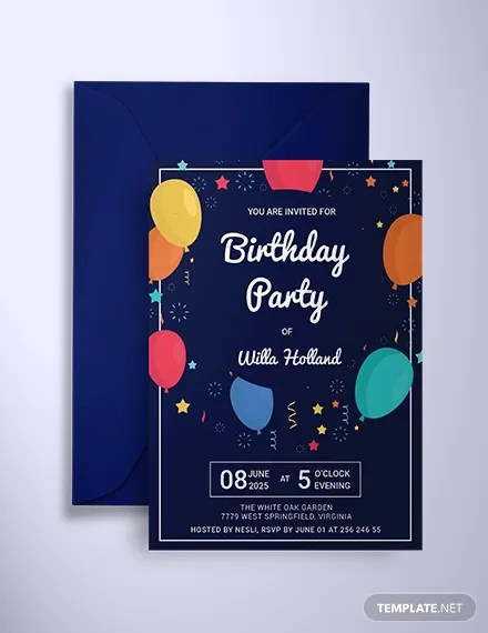 elegant birthday invitations templates - Pinarkubkireklamowe