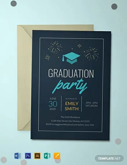 FREE College Graduation Invitation Template Download 637+