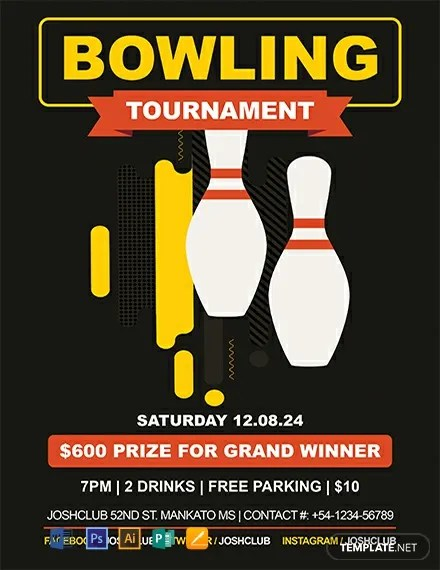FREE Bowling Flyer Template Download 812+ Flyers in PSD