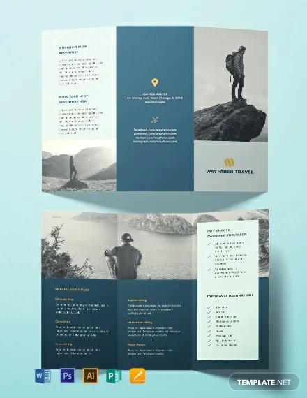 FREE Travel Brochure Template Download 461+ Brochures in PSD