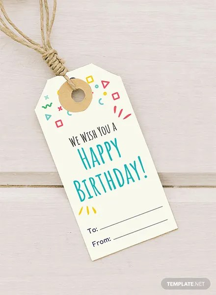 Birthday Gift Tag Template Download 47+ Tags in PSD, Illustrator