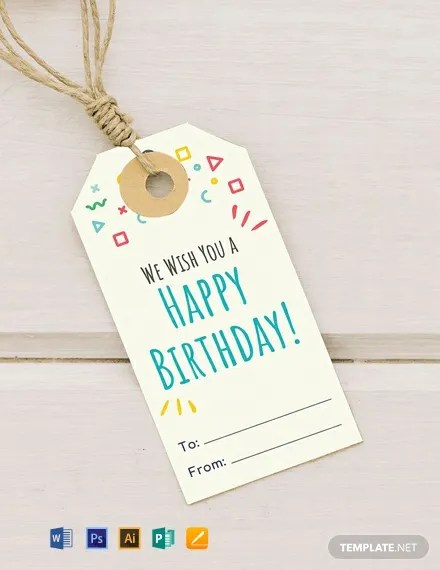 FREE Birthday Gift Tag Template Download 49+ Tags in PSD, Word