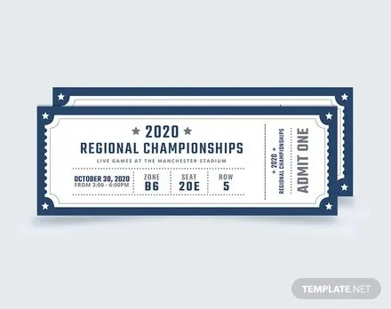 Blank Sports Ticket Template Free Templates - blank admit one ticket template