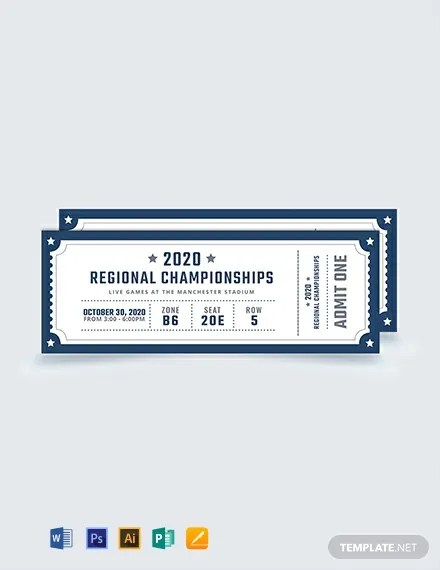 FREE Blank Sports Ticket Template Download 376+ Tickets in PSD