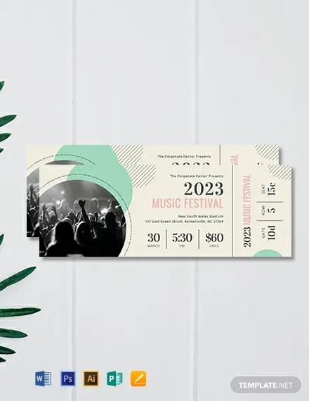 FREE Printable Concert Ticket Template Download 101+ Tickets in PSD