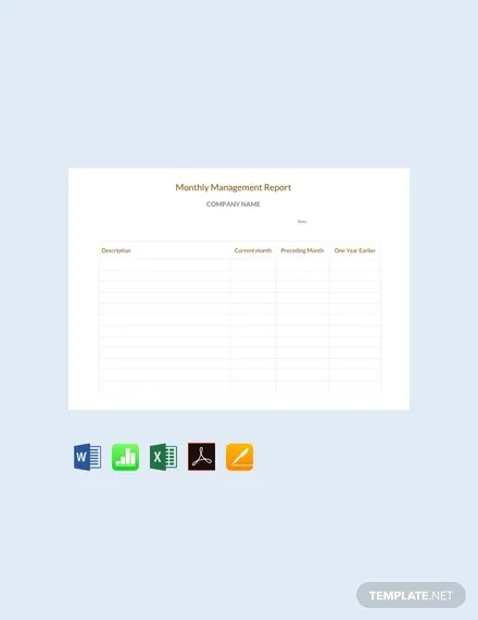 FREE Monthly Management Report Sample Template Download 458+