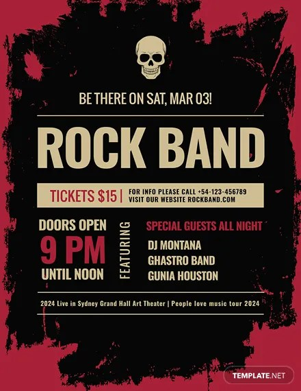 FREE Rock Concert Poster Template Download 96+ Posters in PSD