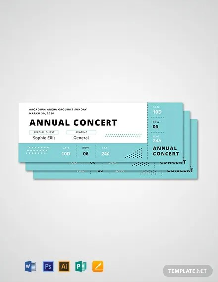 101+ FREE Ticket Templates Download Ready-Made Templatenet