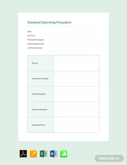 FREE Blank SOP Template Download 77+ Notes in Word, Excel, Apple