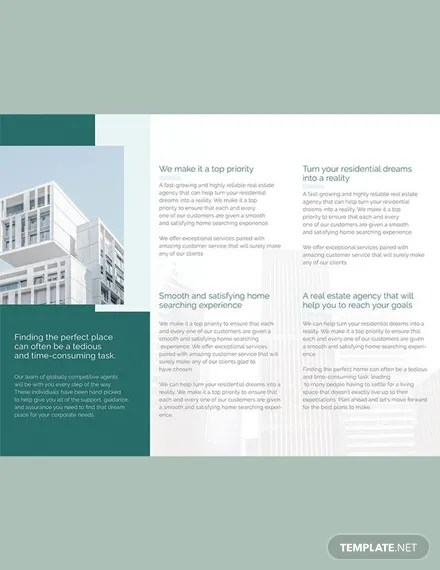 FREE Corporate Real Estate Brochure Template Download 151+