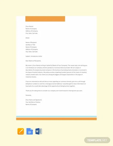 FREE Company Introduction Letter Sample Template Download 2241+