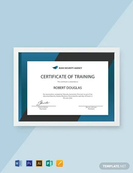 competency certificate template