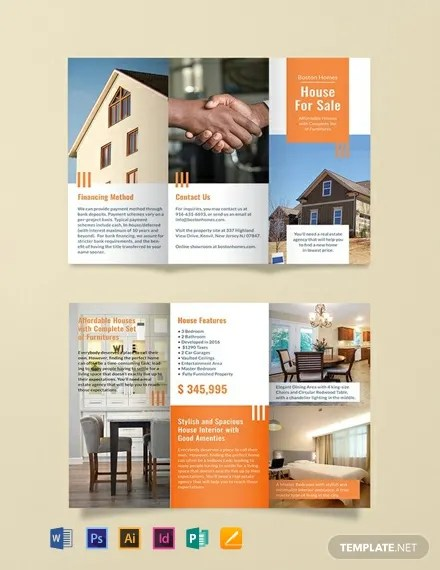 FREE House for Sale Brochure Template Download 454+ Brochures in