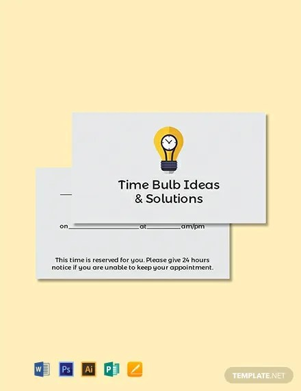 FREE Blank Appointment Card Template Download 300+ Cards in PSD