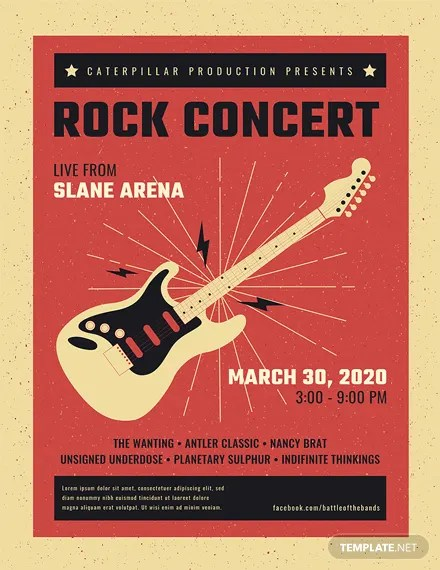 FREE Live Rock Concert Poster Template Download 96+ Posters in PSD