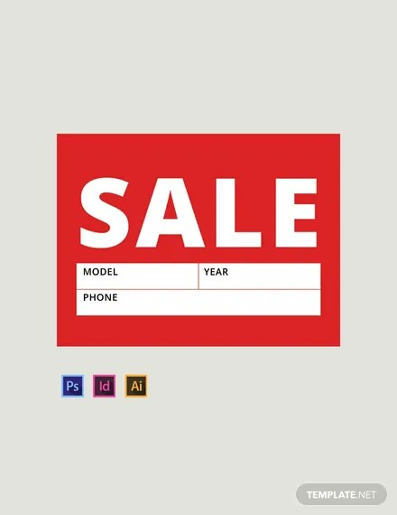FREE Sale Sign Template Download 13+ Signs in PSD, Illustrator