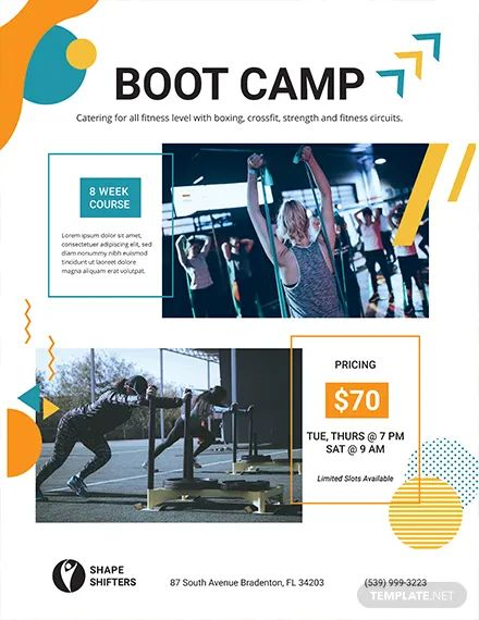 fitness boot camp flyer template
