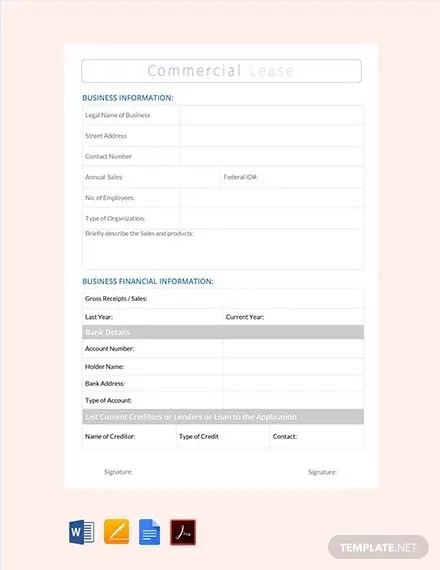 FREE Commercial Lease Agreement Template Download 223+ Contracts in