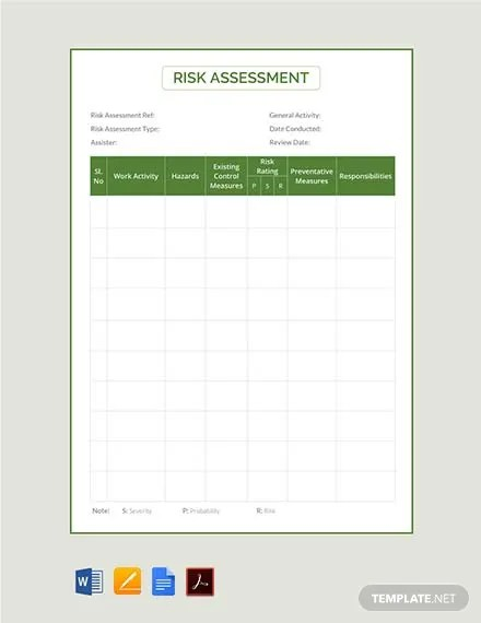 FREE Risk Assessment Template Download 495+ Sheets in Word, PDF