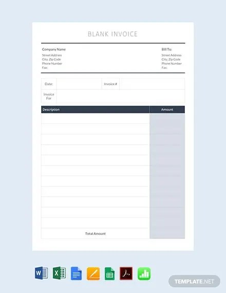 FREE Blank Invoice Template Download 148+ Invoices in Word, Excel