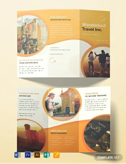FREE Printable Travel Agency Brochure Template Download 454+