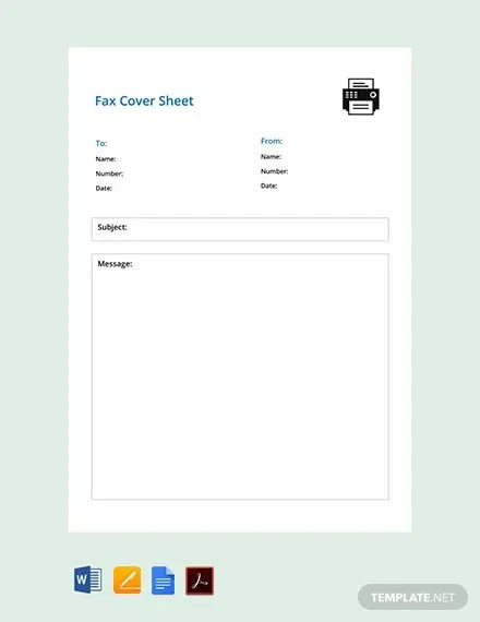 FREE Simple Fax Cover Sheet Template Download 524+ Sheets in Word