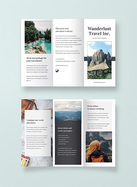Sample Travel Brochure Template Free Templates