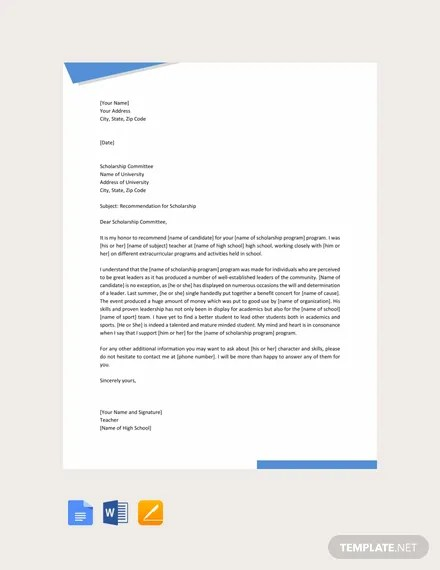 FREE Scholarship Thank You Letter Template Download 700+ Letters in