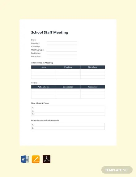 99+ FREE Apple Pages Meeting Minutes Templates Download Ready-Made
