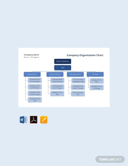FREE Company Organization Chart Template Download 175+ Charts in