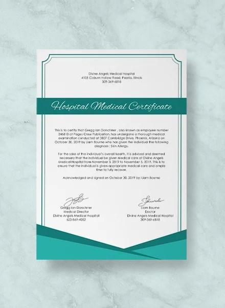medical certificate from hospital 3slufsluidsprekers