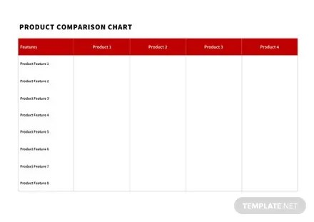 Product Comparison Chart Template in Microsoft Word, Apple Pages - Comparison Chart Template Word
