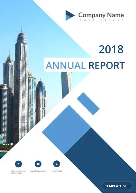 Annual Report Cover Page Template in Microsoft Word Templatenet
